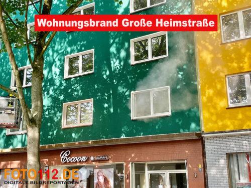 Wohnungsbrand Große Heimstraße
