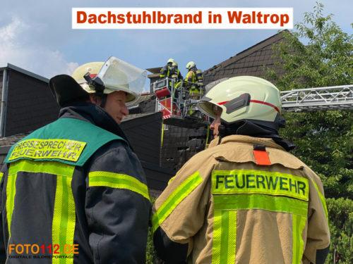 Dachstuhlbrand in Waltrop