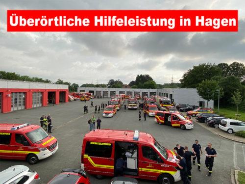 Überörtliche Hilfeleistung in Hagen