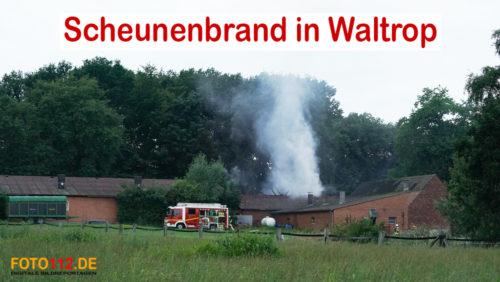 Scheunenbrand in Waltrop